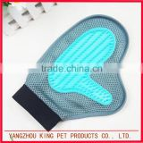 Eco friendly blue rubber massage gloves pet dog grooming products