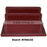 Desk A4 Leather Office Paper Holder Letter Tray