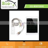 Wifi Connected Portable ECG Monitoring Machine with In Built Difibrillation Protection System