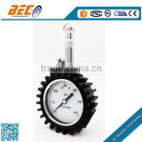 "BECO 2"" tire pressure gauge 360 degree swivel chuck for SUV, truck etc. Samples ready"