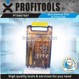 9pcs Hammer Drill and Chisel Set