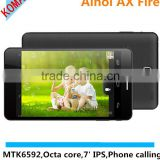 KOMAY Original Ainol AX Flame WITH Octa Core MTK6592 Phone Call 3G Tablet PC IPS Screen 1920*1200 7 Inch Android 4. 4