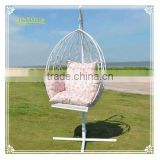 Metal Stand Outdoor Patio Garden Rattan Hanging Egg basket Swing Chair