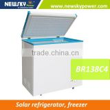 Stainless steel upright Commercial ice cream freezer solar refrigerator fridge deep freezer price