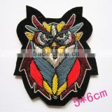 New arrival wire badge patch stickers badge clothes accessories fabric embroidered logo woven customize