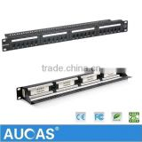 Taiwan Imported Network Cable Cat5e 24 Port Patch Panel Similar To AMP 24 Port Patch Panel