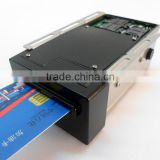 hybrid smart ic/ rfid/msr motorized contact/contactless card reader