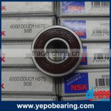 6000 series ball bearing rubber seal type open type steel covered type ball bearing price