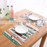 table mat pp dinner Washable durable disposbale printed plastic table placemat