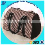 OEM canvas tote bag manufacturer logo customized bucket lady handbag striped women tote bag