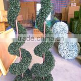 Driect manufacture Latest spiral topiary artificial boxwood spiral tree for decoration
