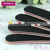 2015 cheap black banana shape two sided emery board round nail file for sale