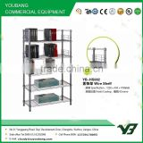2015 hot sell NSF 100KGS plastic powder heavy duty 6 layer warehouse wire book rack with wire fence (YB-HS002)