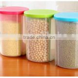 Kitchen Plastic Dry Food Dispenser Box Cereal Nuts Rice Beans Storage Container with Colorful Lid                                                                         Quality Choice