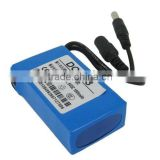 12V 1800mAh High Capacity Mini Portable DC-168 Rechargeable Lithium Li-ion Battery for CCTV Camera