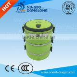 DL hot sale lunch box / tiffin box/food carrier 3 layer stainless steel tank