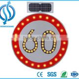 Solar Traffic Sign Speed-Limit and Warning Sign/ convenient installation waterproofing led solar traffic sign
