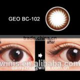 GEO BC-102 brown Korean wholesale prescription colored contact lenses yearly circle lens