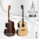 L-890S 41' high quiality solid spruce top rosewood body rosewood fish bone binding inlay rattan acoustic guitar