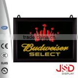 Back bar illuminated sign, advertising illuminated sign, outdoor advertising illuminated sign