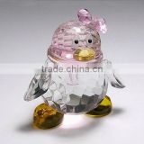 Years loving crystal penguin model,crystal animals (R-0248)