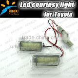 Qualified 18 LED SMD 2835 Error Free for lexus Is250 led door courtesy light for toyota 12V led luggage footwell door step light