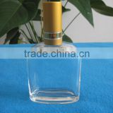 clear glass cosmetic essential oil bottle with pump sprayer