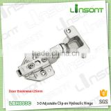 High quality 3-D adjustable hydraulic clip on rotating hinge hardware concealed hinge for thick door