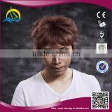 2014 Hot selling Good price high density short hair wig men
