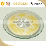 low price banquet lazy susan transparent glass table turnplate