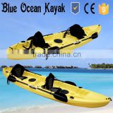 2015 hot sale Blue Ocean 2 person fishing kayak/2 person fishing kayak on ocean/sea tour 2 person fishing kayak