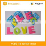 Onzing manufacture cute sticky notes letter shaped sticky note