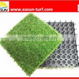 Indoor&outdoor ornamental balcony laying portable leisure interlocking artificial grass tiles