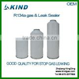 High quality 200g 340g 500g 800g aerosol can packing 99.9% refrigerant gas r134a plus leak sealant with OEM packing