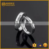Fashionable 925 silver plated wedding couple rings fashion jewellery engagement ring for lovers jewelry wholesale alibaba