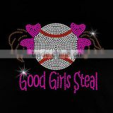 Good girls steal Custom Hot-fix baseball Rhinestone Transfers