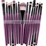 15pcs retractable eyelash brush set Custom Logo Makeup Brush Set