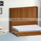 foldable wall bed mechanism wall mounted type bed hardware with desk