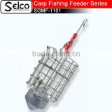 SGMF-1102 (28mm*34mm) Cylindrical Stainless steel lead Carp fishing bait fishing cage feeder