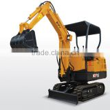 small wheel and track hydraulic excavator with factory price