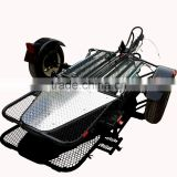 Folding Single RAIL Motorcycle Enclosed Trailer used for Harley Honda Gold Wing Motorbike With Accessory
