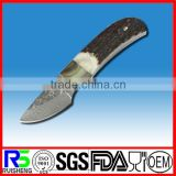 Hot selling Fixed-blade Bone handle Damascus hunting knife
