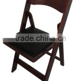 high quality modern birch wood folding dinning chair for hot sale