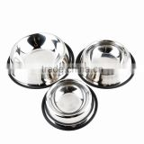 Stainless Steel Pet Cat Bowl No Tip No Slip Dog Puppy Pet Food or Water Bowl Dish Feeding Watering Supplies 3 Different Size