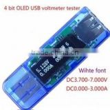 NEW 4 bit OLED USB voltmeter current power capacity tester