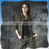 fashion style army jacket women army uniform military jacket green color custom designs pictures brand china manufacturer