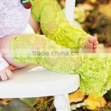 Charming Princess Girls Lace Leg Warmer Apple Green Chiffon Leg Warmers For Baby Toddlers