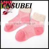 China supplier customized winter child baby colorful rabbit wool tube socks