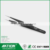 ESD-12 Stainless Steel ESD Tweezers for electronic repairing