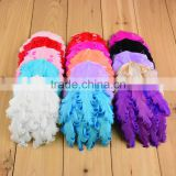 15colors feather flower pads for newborn baby girl hair band headband kids hair accessories